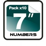 "7"" Race Numbers - 10 pack"